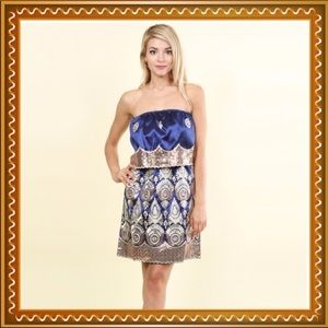 Embroidery and Sequined Dress